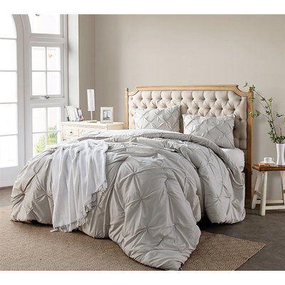 Ophelia Co Iyonna Pin Tuck 3 Piece Comforter Set Size Queen