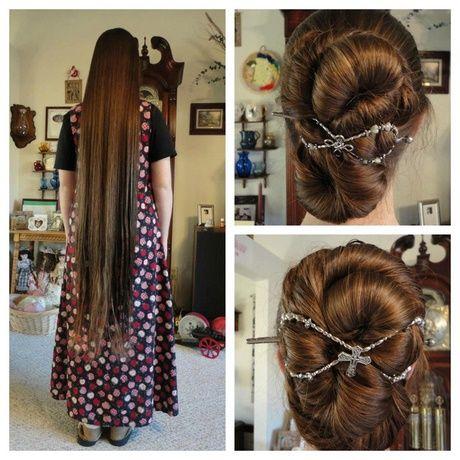 Lange haare hochstecken extrem Hochsteckfrisuren für