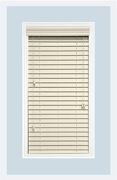 Delta Blinds Supply Custom Made Faux Wood Horizontal Window Blinds 2 Inch Slats Pearl White Light Ivory Inside Mount R Blinds For Windows Blinds Faux Wood