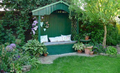 Ein Reihenhausgarten aus der Reihe Sonnenbraut, Die sonne und - reihenhausgarten vorher nachher