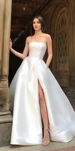 27 Wedding Dresses Spring 2020 Trendy Ideas Wedding Forward Plain Wedding Dress Wedding Dress Trends Wedding Dresses