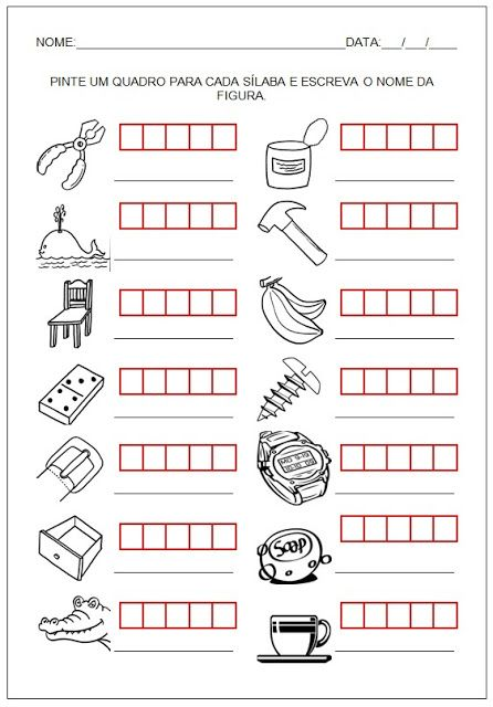 Atividades Imprimir Hipotese De Escrita Pre Silabica So Escola