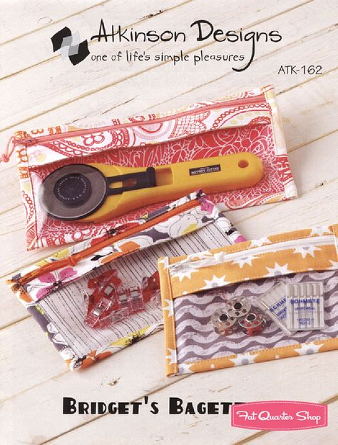 Bridget's Bagettes Little Bags Sewing Pattern Atkinson Designs - Fat Quarter Shop  $6.50 for the pattern
