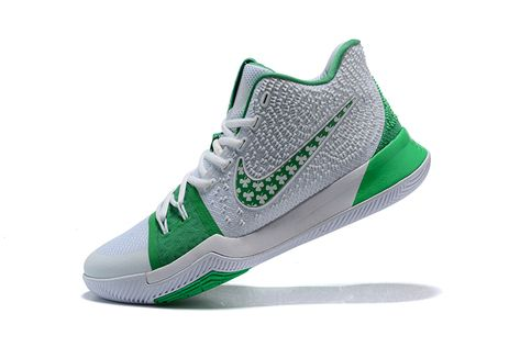 f47fd8434b3 Cheap Mens Nike Kyrie 3 Green White Basketball Shoes 2018 Spring Summer Sale