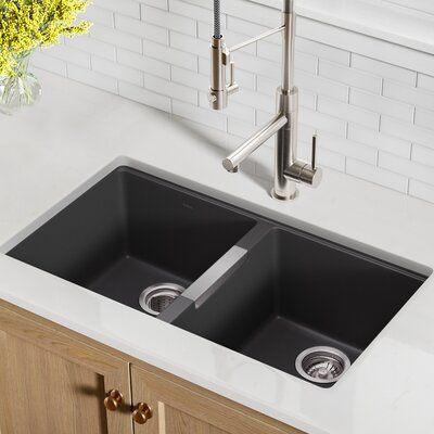 Kraus 33 L X 19 W Double Basin Undermount Kitchen Sink In 2020