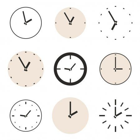Clock Vector Icon Set Beige And Black Clocks Illustration Collection Isolated O Sponsored Set Beige Icon Cloc In 2020 Icon Set Vector Icon Set Vector Icons