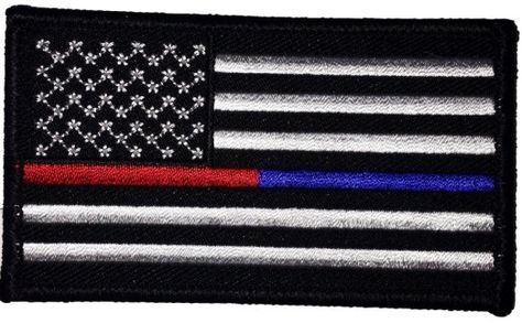 Single Count Custom Cool Awesome 3 5 X 2 Inches Rectangle Patriotic National Stars A Patches Flag Patches Blue Red Lines
