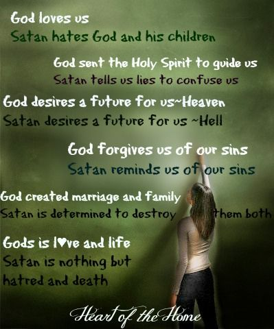 Know the truth about your adversary/satan..he comes to steal, kill & destroy.
