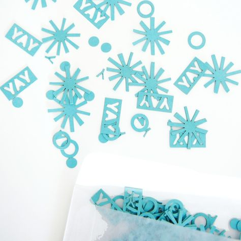 Yay Confetti - Ocean - Red Stamp