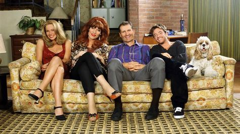 sitcom Married With Children, starring (L-R): Christina Applegate, Katey Sagal, Ed O'Neill & David Faustino