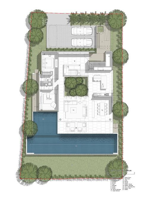 72 Sentosa Cove House By Ong Ong House Layouts Villa Plan Floor Plans