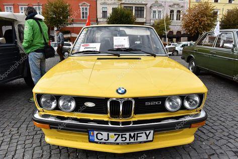 Yellow BMW vintage car – Stock Editorial Photo © salajean