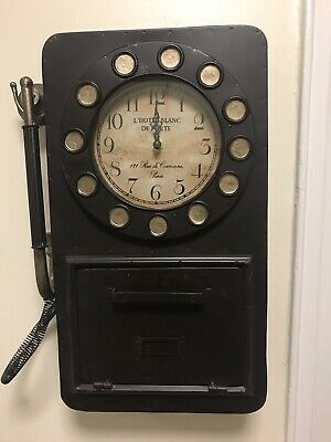 Details About Rotary Phone Wall Clock With Hidden Storage