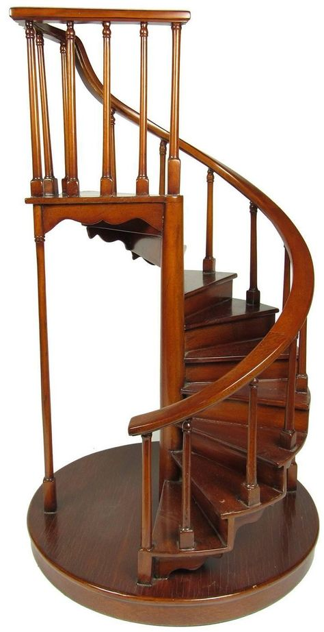 19th century mahogany architectural spiral staircase model fort in rh pinterest com