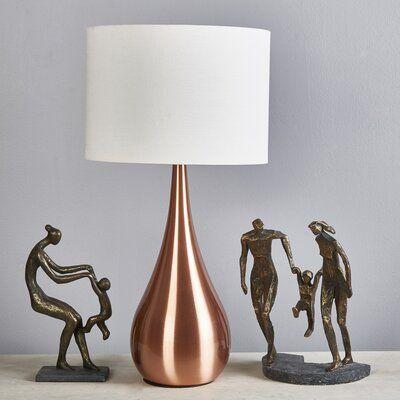 Orren Ellis Mailiah Metal Tear Drop 28 Table Lamp Wayfair Ca Owl Table Lamp Table Lamp Lamp