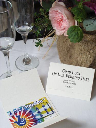 Bespoke Wedding Favour Scratch Card Holders, by A Farmer's Daughter on Folksy, £1.00