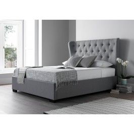 Salerno Cool Grey Upholstered Bed Frame Upholstered Beds Beds