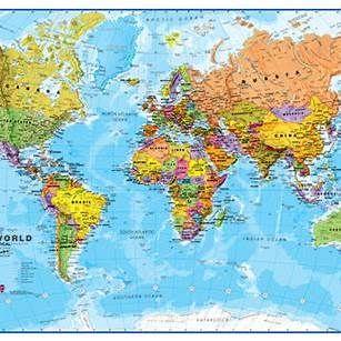 Flat Map Of The World Flat Map of the World   Flags of the world, World map, Map