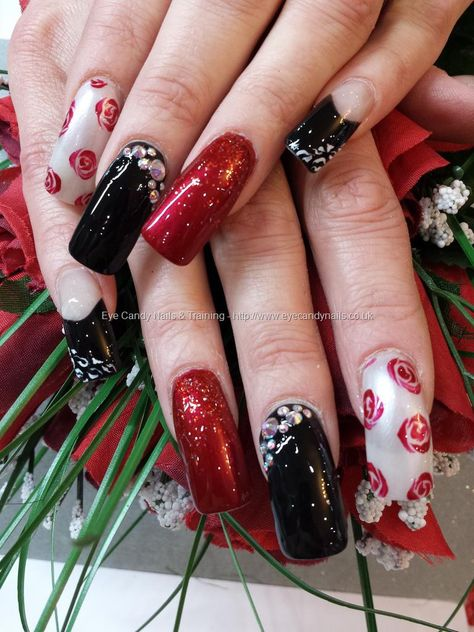 Nails art red and black polish 50 Ideas for 2019