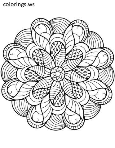 Flower Mandala Adults Coloring Page Adults Coloring Pages Free