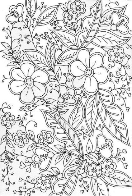 50 Trendy Flowers Drawing Design Mandalas Coloring Pages Flower Drawing Design Flower Drawing Trendy Flowers