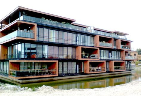 Modern Apartment Complex In Rotterdam Netherlands