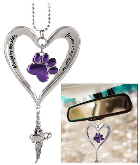 Heart & Purple Paw Car Charm at The Alzheimer's Site = SEE@https://alzheimers.greatergood.com/store/alz/item/52002/heart-and-purple-paw-car-charm?source=6-58569-22