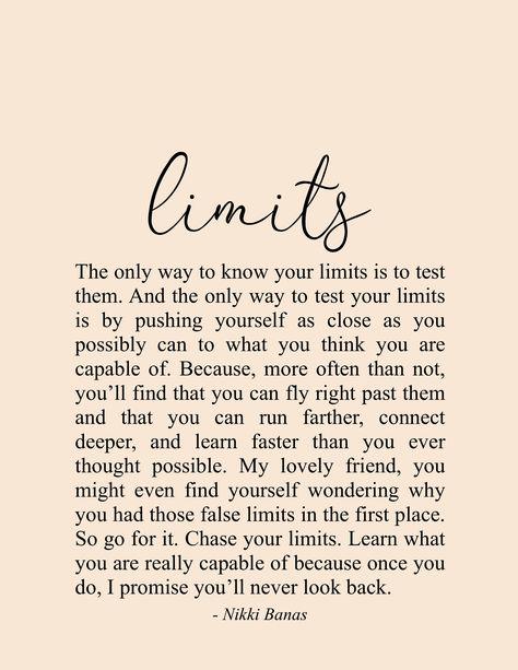 "Limits 8.5"" x 11"" Print – Nikki Banas"
