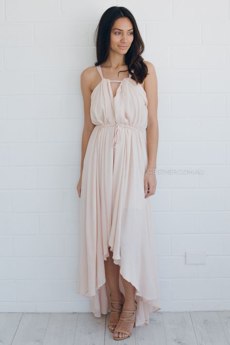 stephanie maxi dress - blush | Esther clothing Australia and America USA, boutique online ladies fashion store, shop global womens wear worldwide, designer womenswear, prom dresses, skirts, jackets, leggings, tights, leather shoes, accessories, free shipping world wide. – Esther Boutique