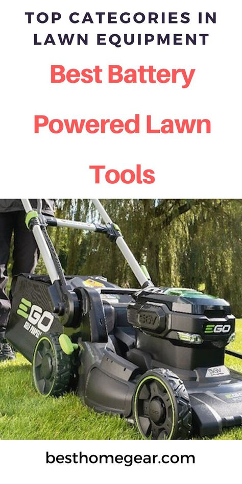 Best Battery Powered Lawn Tools: Complete List (2019) #lawn #lawncare #lawnandgarden #garden #gardening #gardenideas #gardeningtips #patiogarden #patiogardenideas #backyard #backyardgarden #backyardgardeningideas #flowergardening #fruitgarden