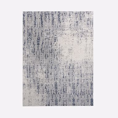 Distressed Foliage Rug Moonstone 9 X12 West Elm Abstract Rug Family Room Design Rugs