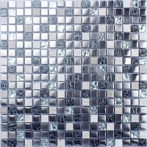 natural stone mosaic wall tiles silver 3d stone and glass blend rh pinterest fr