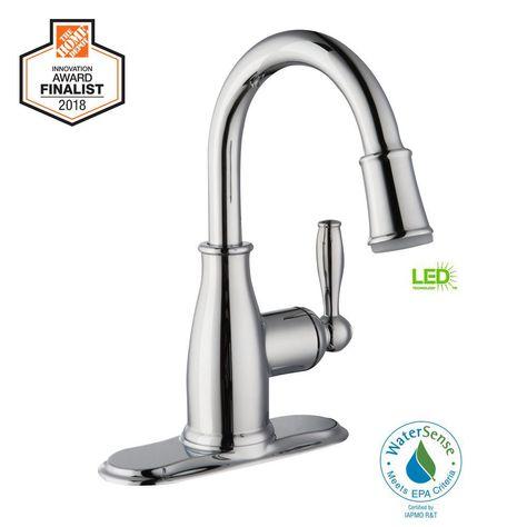 glacier bay mandouri single hole single handle led high arc bathroom rh pinterest ie
