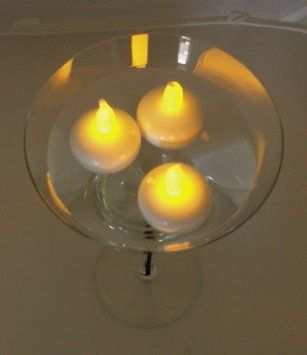 amazon com lily s home battery operated floating tealight led rh pinterest com au