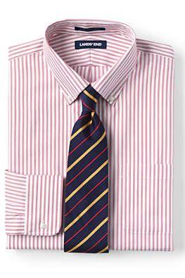d323edefd90 Men s Pattern No Iron Supima Pinpoint Buttondown Collar Dress Shirt from  Lands  End