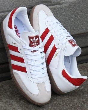 adidas Originals Samba Og Sneakers In White And Red