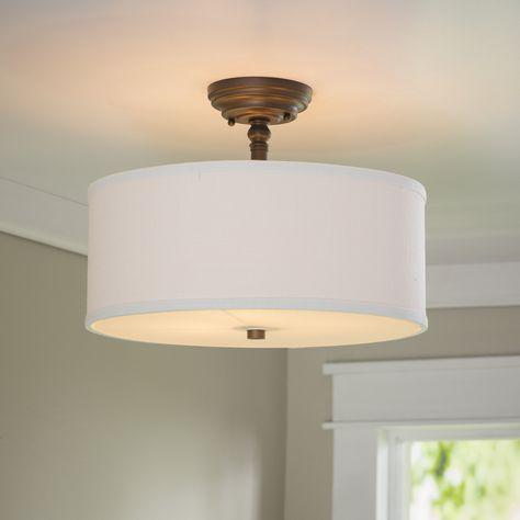 thorpe 3 light semi flush mount products pinterest lighting rh pinterest ca