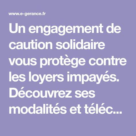Engagement De Cautionnement