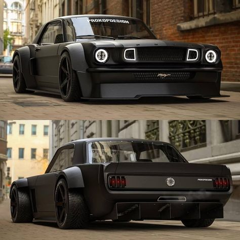 Black Horse '65 Ford Mustang