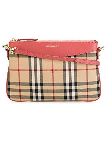 c62cab32abaa Burberry Horseferry Check And Leather Clutch Bag