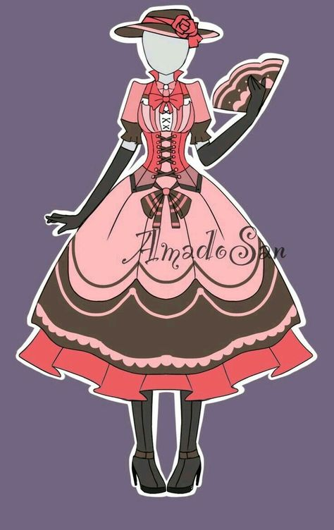 Victorian outfit adoptable CLOSED by AS-Adoptables on