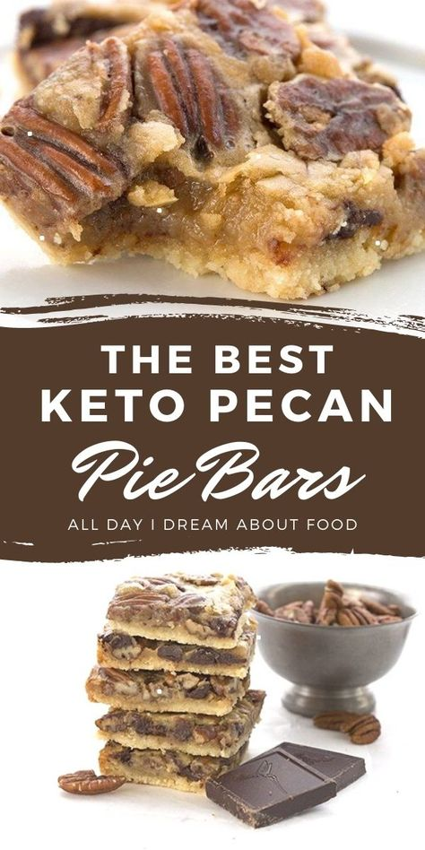 Low Carb Sweets, Low Carb Desserts, Low Carb Recipes, Keto Cookies, Cookie Diet, Keto Chocolate Chip Cookies, Pecan Pie Bars, Pecan Pies, Easy Pecan Pie