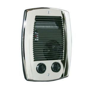 Cadet Rbf Series 1000 Watt 120 Volt Electric Fan Forced In Wall Bath Heater Chrome Rbf101 The Home Depot Bathroom Heater Heater Wall Fans
