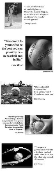 inspirational baseball quotes #baseball #quotes love the first one!