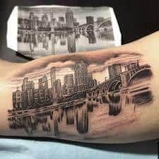 Chicago Skyline Tattoo 12 Skyline Tattoo Chicago Skyline Tattoo