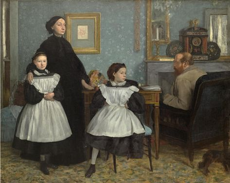 Edgar Degas - Family portrait (Portrait de famille), also called The Bellelli family c. 1858–67