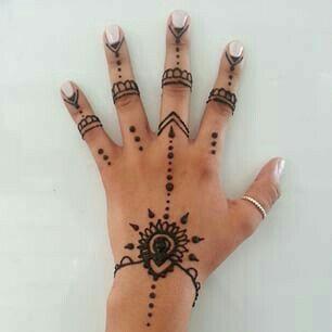 Pin By Chloe Marie On Henna Simple Hand Henna Henna Tattoo Hand