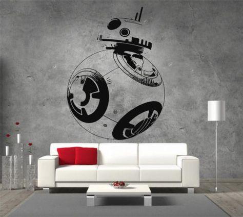 Il y a longtemps star wars intro décoration autocollant mur art graphique divers couleur
