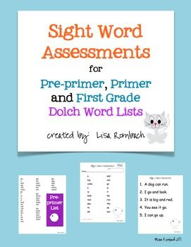 This file contains 23 assessment forms for testing student mastery of the Dolch Sight words.  grades k-1