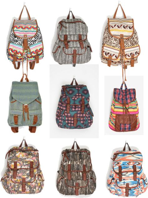 Trend: Tribal Print Backpacks @ Kirstin Livmanis Pinterest is trying to tell me these backpacks from the 1990's are on trend. You don't still have yours by any chance? ;-)